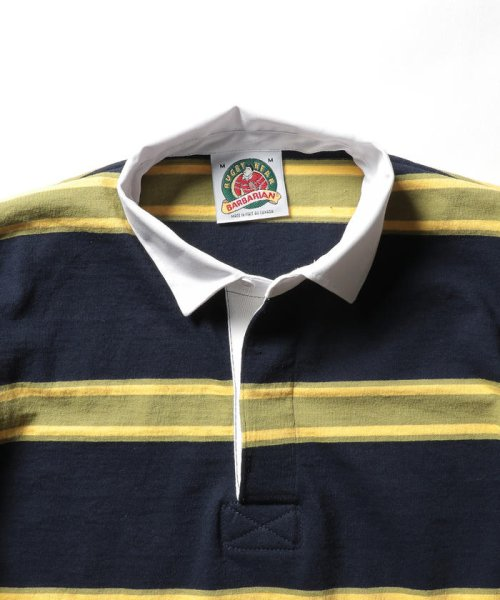 NOLLEY'S goodman(ノーリーズグッドマン)/【BARBARIAN/バーバリアン】別注 半袖ラガーシャツ(GCSS)/9-0658-1-73-001_img02