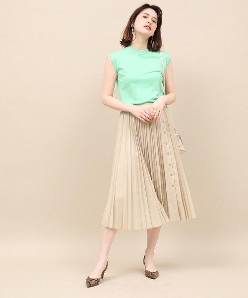 ROPE' mademoiselle(ロペ マドモアゼル)/サイドボタンプリーツスカート/GWC49140_img01