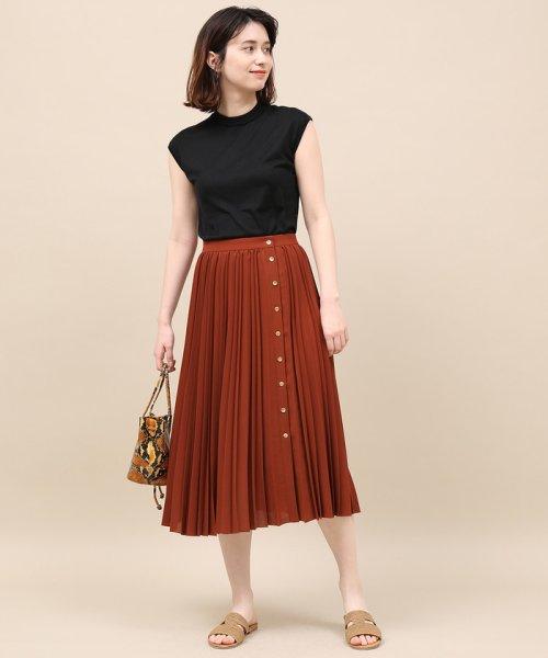 ROPE' mademoiselle(ロペ マドモアゼル)/サイドボタンプリーツスカート/GWC49140_img02