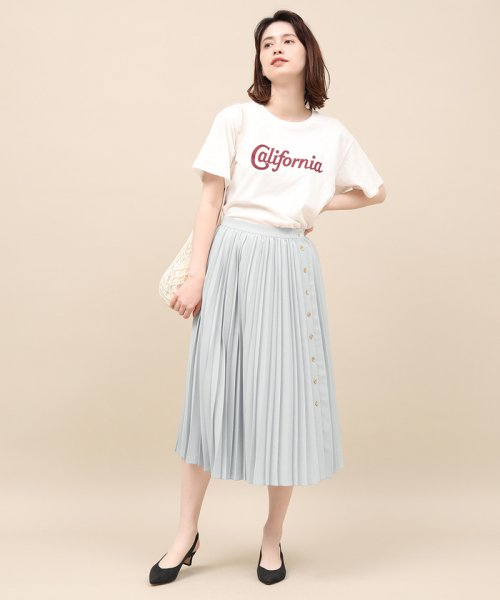ROPE' mademoiselle(ロペ マドモアゼル)/サイドボタンプリーツスカート/GWC49140_img03