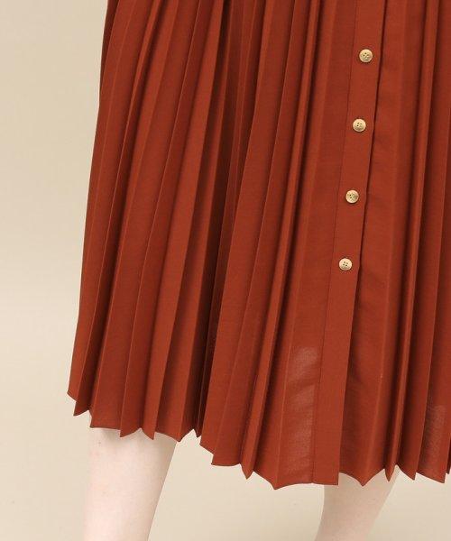 ROPE' mademoiselle(ロペ マドモアゼル)/サイドボタンプリーツスカート/GWC49140_img08