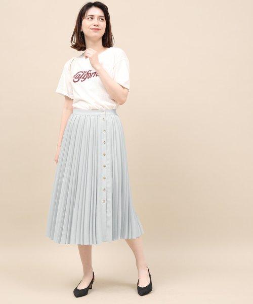 ROPE' mademoiselle(ロペ マドモアゼル)/サイドボタンプリーツスカート/GWC49140_img12
