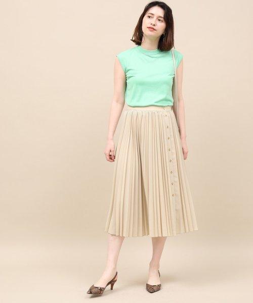 ROPE' mademoiselle(ロペ マドモアゼル)/サイドボタンプリーツスカート/GWC49140_img13