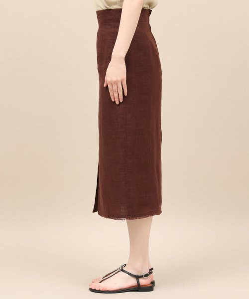 ROPE' mademoiselle(ロペ マドモアゼル)/リネンスリットタイトスカート/GWC49150_img04