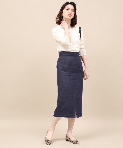 ROPE' mademoiselle(ロペ マドモアゼル)/リネンスリットタイトスカート/GWC49150_img11