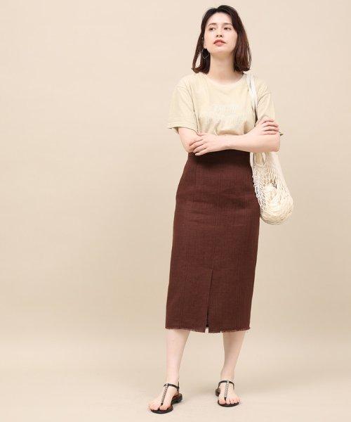 ROPE' mademoiselle(ロペ マドモアゼル)/リネンスリットタイトスカート/GWC49150_img12