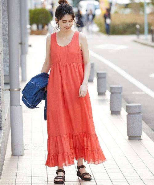 ROPE' mademoiselle(ロペ マドモアゼル)/楊柳ティアードノースリーブワンピース/GWE49100_img11