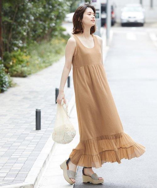 ROPE' mademoiselle(ロペ マドモアゼル)/楊柳ティアードノースリーブワンピース/GWE49100_img12