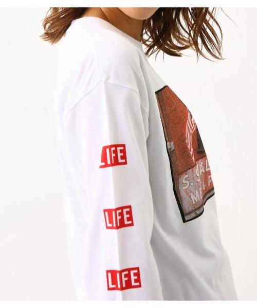 RODEO CROWNS WIDE BOWL(ロデオクラウンズワイドボウル)/LIFE サインロングスリーブ Tシャツ/420CSA01-0170_img04