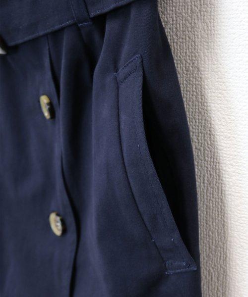 and Me...(アンドミー)/【H-9】ツイル タイトスカート 前ボタン ロングスカート/1000572_img12
