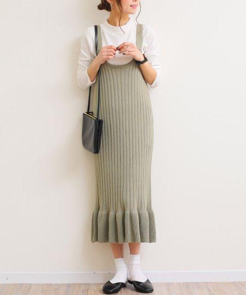 and Me...(アンドミー)/【G-8】リブニット キャミ ワンピース 裾フリル/6001157_img04
