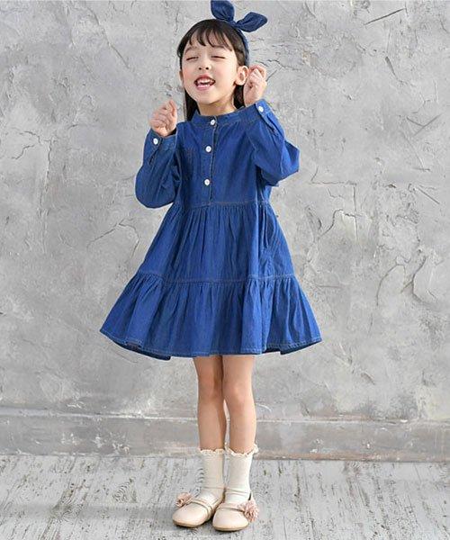 子供服Bee(子供服Bee)/デニム風切り替え長袖ワンピース/sbb01730_img02