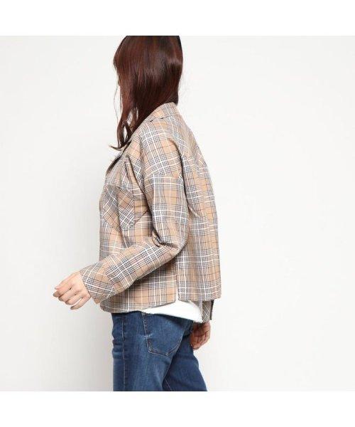STYLEBLOCK(スタイルブロック)/スタイルブロック STYLEBLOCK 先染め柄開襟ビッグシャツ (ベージュ02)/ST4819EW24073_img01