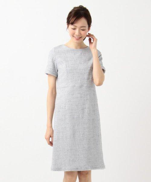 NIJYUSANKU(LARGE SIZE)(23区(大きいサイズ))/【マガジン掲載】Brilliant tweed dress ワンピース/OPWWKM0741_img02
