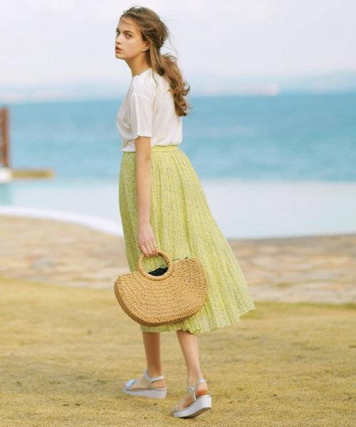 anySiS(エニィ スィス)/【洗える】プチフラワースパンローン スカート/SKWPKM0421_img02