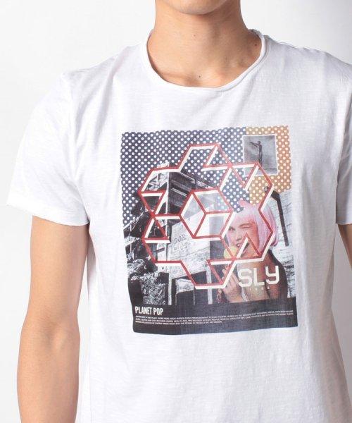 SISLEY(シスレー(メンズ))/スラブグラフィックプリント半袖Tシャツ・カットソー/19P3APUO12EI_img14