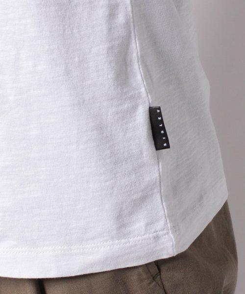SISLEY(シスレー(メンズ))/スラブグラフィックプリント半袖Tシャツ・カットソー/19P3APUO12EI_img15