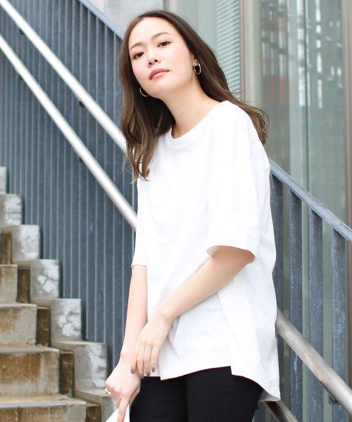 SocialGIRL(ソーシャルガール)/シンプルベーシックコットンUネックTシャツ/509-90_img04