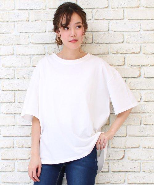 SocialGIRL(ソーシャルガール)/シンプルベーシックコットンUネックTシャツ/509-90_img05