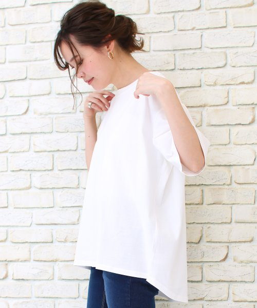 SocialGIRL(ソーシャルガール)/シンプルベーシックコットンUネックTシャツ/509-90_img06