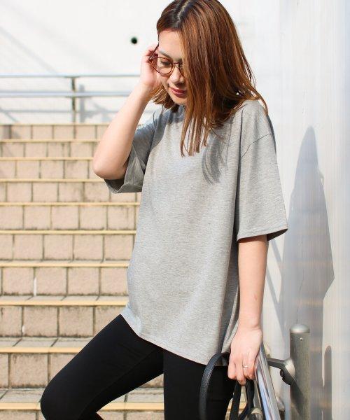SocialGIRL(ソーシャルガール)/シンプルベーシックコットンUネックTシャツ/509-90_img07