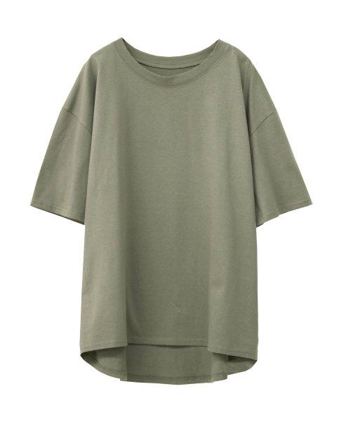SocialGIRL(ソーシャルガール)/シンプルベーシックコットンUネックTシャツ/509-90_img18