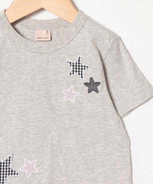 petit main(プティマイン)/星アップリケ裾シャツレイヤード風Tシャツ/9591232_img02