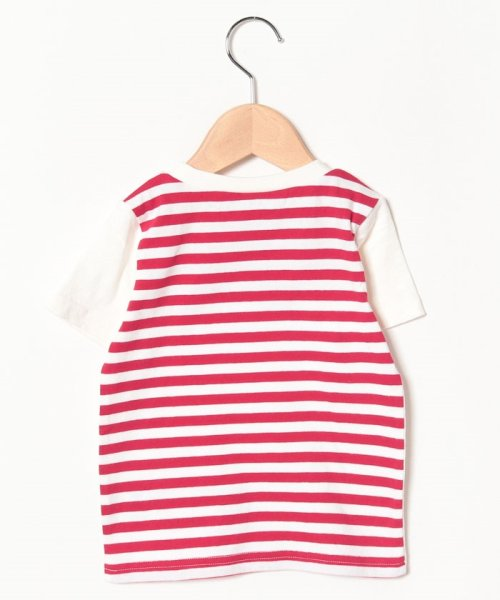 petit main(プティマイン)/ワニアップリケ後ろボーダーTシャツ/9591233_img02