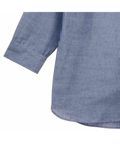 MAC HOUSE(men)(マックハウス(メンズ))/Free Nature Linen ボーダーポケット付きシャツ 391104MH/01215100112_img02