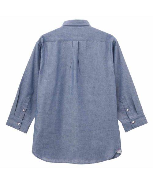 MAC HOUSE(men)(マックハウス(メンズ))/Free Nature Linen ボーダーポケット付きシャツ 391104MH/01215100112_img03