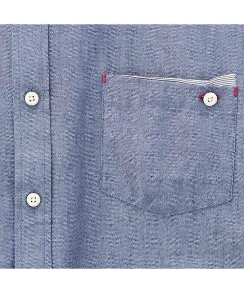 MAC HOUSE(men)(マックハウス(メンズ))/Free Nature Linen ボーダーポケット付きシャツ 391104MH/01215100112_img04