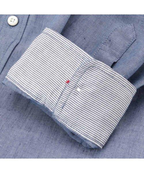 MAC HOUSE(men)(マックハウス(メンズ))/Free Nature Linen ボーダーポケット付きシャツ 391104MH/01215100112_img07
