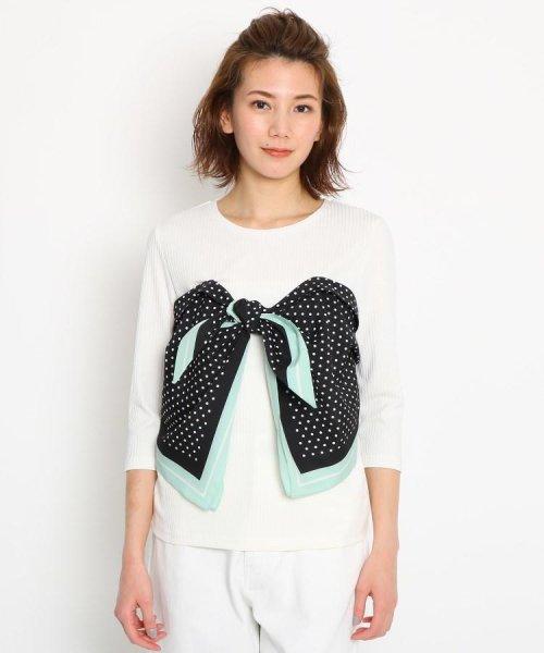 AG by aquagirl(AG バイ アクアガール)/【洗える】スカーフドッキングテレコカットソー/201901C1216527_img01