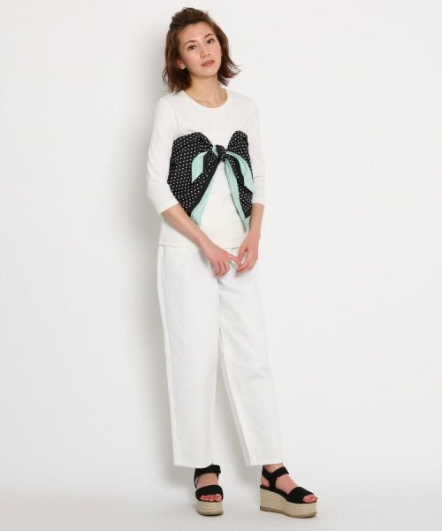 AG by aquagirl(AG バイ アクアガール)/【洗える】スカーフドッキングテレコカットソー/201901C1216527_img08