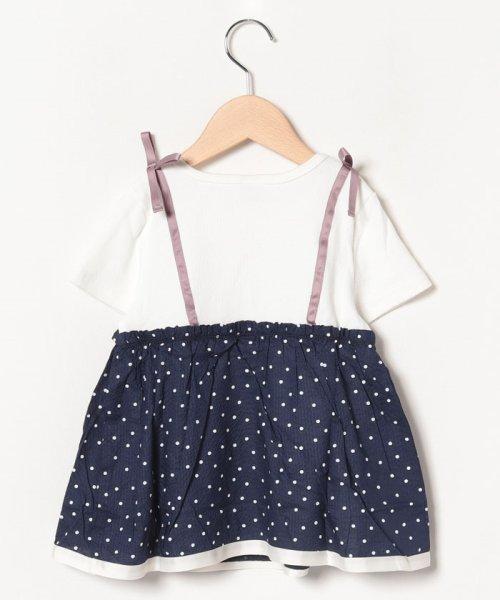 petit main(プティマイン)/ドットキャミドッキングTシャツ/9691256_img01