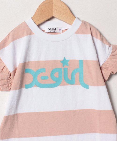 X-girl Stages(エックスガール ステージス)/ボーダーフリルTシャツ/9291225_img02