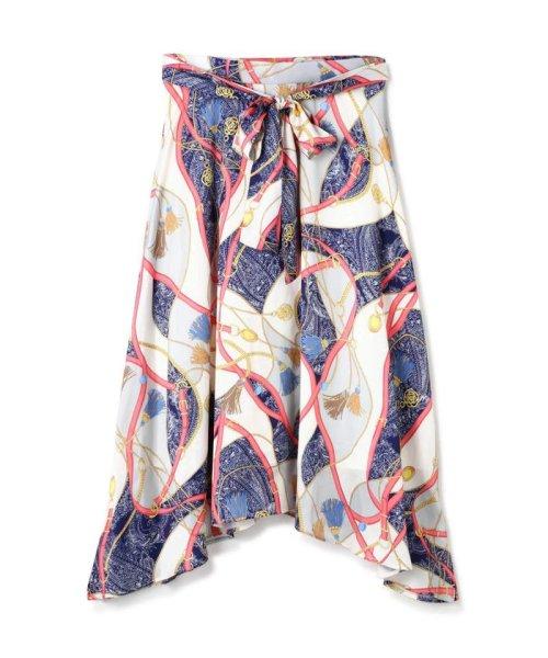 PROPORTION BODY DRESSING(プロポーション ボディドレッシング)/スカーフプリントイレヘムスカート/1219120906_img01
