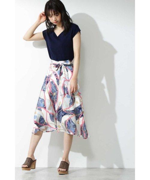 PROPORTION BODY DRESSING(プロポーション ボディドレッシング)/スカーフプリントイレヘムスカート/1219120906_img02