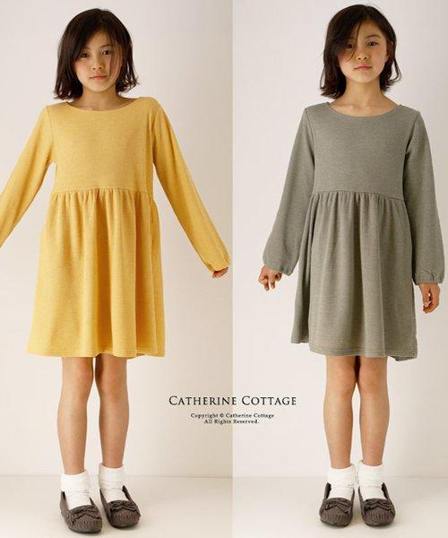 Catherine Cottage(キャサリンコテージ)/ワッフル素材 キッズ ナチュラルワンピース/QS024_img01