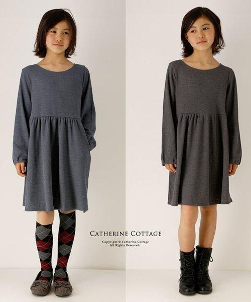 Catherine Cottage(キャサリンコテージ)/ワッフル素材 キッズ ナチュラルワンピース/QS024_img03