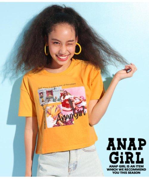 ANAP GiRL(アナップガール)/キュートカラーフォトクロップドTシャツ/2039300019_img01