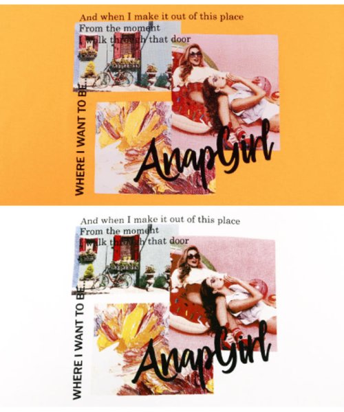 ANAP GiRL(アナップガール)/キュートカラーフォトクロップドTシャツ/2039300019_img12