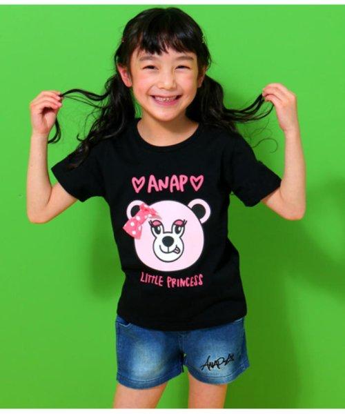 ANAP KIDS(アナップキッズ)/リップちゃんドットリボン付きTシャツ/0437200002_img02