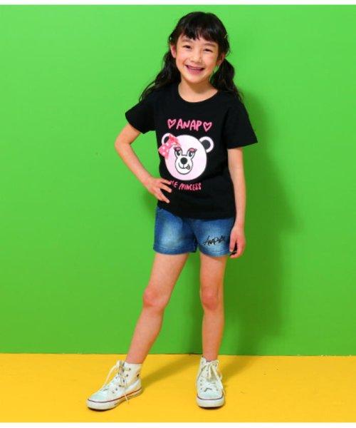 ANAP KIDS(アナップキッズ)/リップちゃんドットリボン付きTシャツ/0437200002_img06