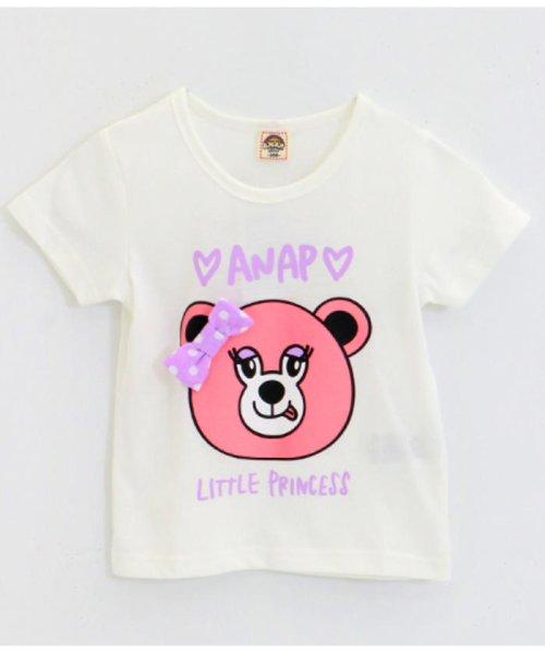 ANAP KIDS(アナップキッズ)/リップちゃんドットリボン付きTシャツ/0437200002_img11