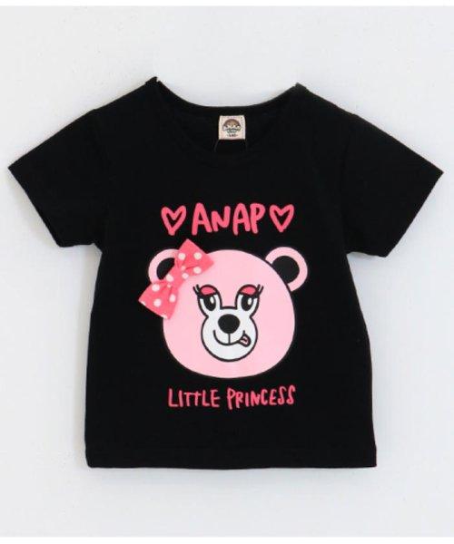 ANAP KIDS(アナップキッズ)/リップちゃんドットリボン付きTシャツ/0437200002_img12