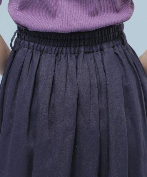 nano・universe(ナノ・ユニバース)/★【STORY 7月号掲載】【Marisol・LEE 6月号掲載】フレンチリネンギャザースカート/6699130012_img26