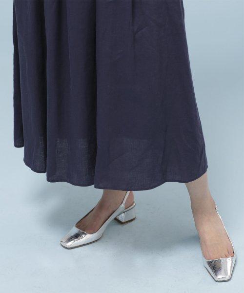 nano・universe(ナノ・ユニバース)/★【STORY 7月号掲載】【Marisol・LEE 6月号掲載】フレンチリネンギャザースカート/6699130012_img27