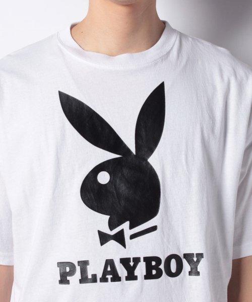 MARUKAWA(マルカワ)/【別注】【PLAYBOY】プレイボーイ ビッグシルエット アイコンロゴ 半袖Tシャツ/0112280947_img03