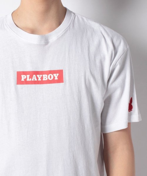MARUKAWA(マルカワ)/【PLAYBOY】プレイボーイ ビッグシルエット ボックスロゴ 半袖Tシャツ/0112280952_img03